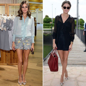 Olivia Palermo Works Chic Shorts Two Ways at the A/W 2013 Intimissimi Lingerie Show in Verona, Italy: Shop Her Style!