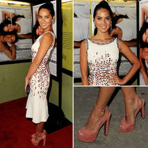 Pictures of Olivia Munn In Carolina Herrera Dress at The Babymaker Premiere in LA: Snoop Her Outfit from All Angles