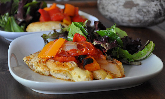 Chicken With Bell Pepper Ragout