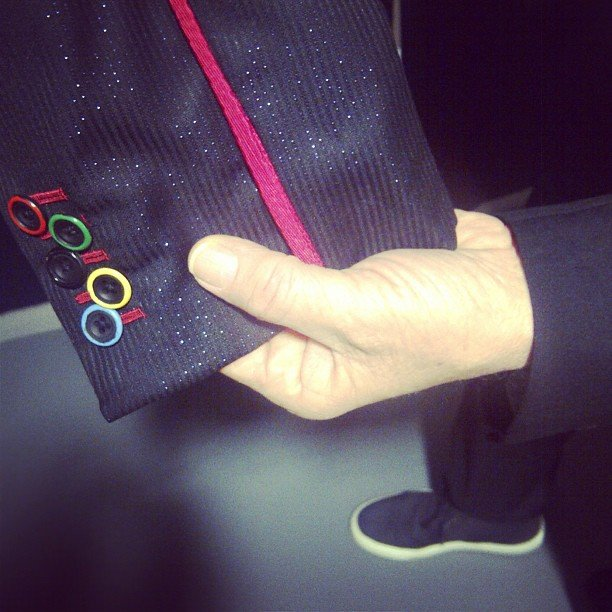 Stella McCartney highlighted the detailed buttons on her father's custom-made jacket sleeve. Source: Instagram User stella_mccartney