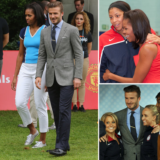 David Beckham Preps For the Olympics With Michelle Obama