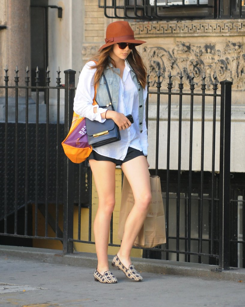 Elizabeth Olsen went for a low-key walk in SoHo on July 25.