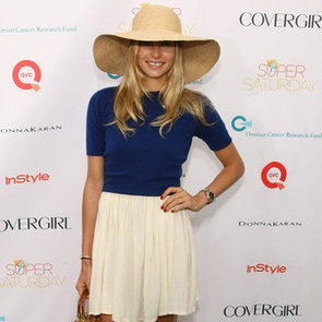 Jessica Hart Wearing a Floppy Hat