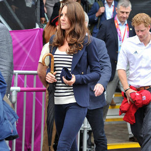Kate Middleton Navy Cropped Jeans