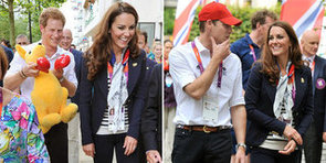 Prince Harry Jokes Around With Kate Middleton at the Olympics