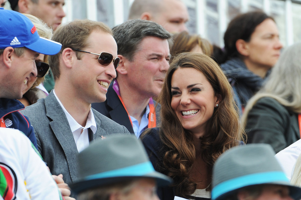 Prince William and Kate Middleton looked happy together.