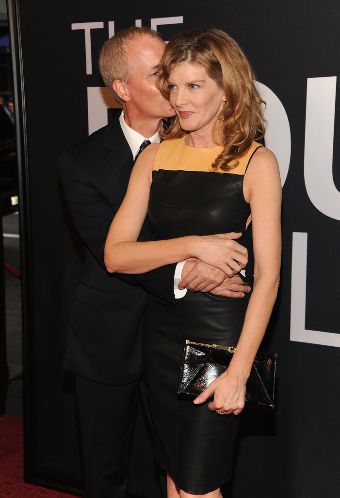 Rene Russo got a kiss from Dan Gilroy on The Bourne Legacy's world premiere in NYC.