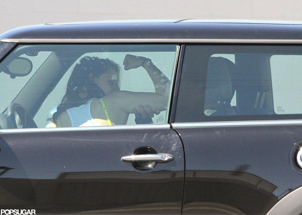 Kristen Stewart flexed her muscles with Rupert Sanders.