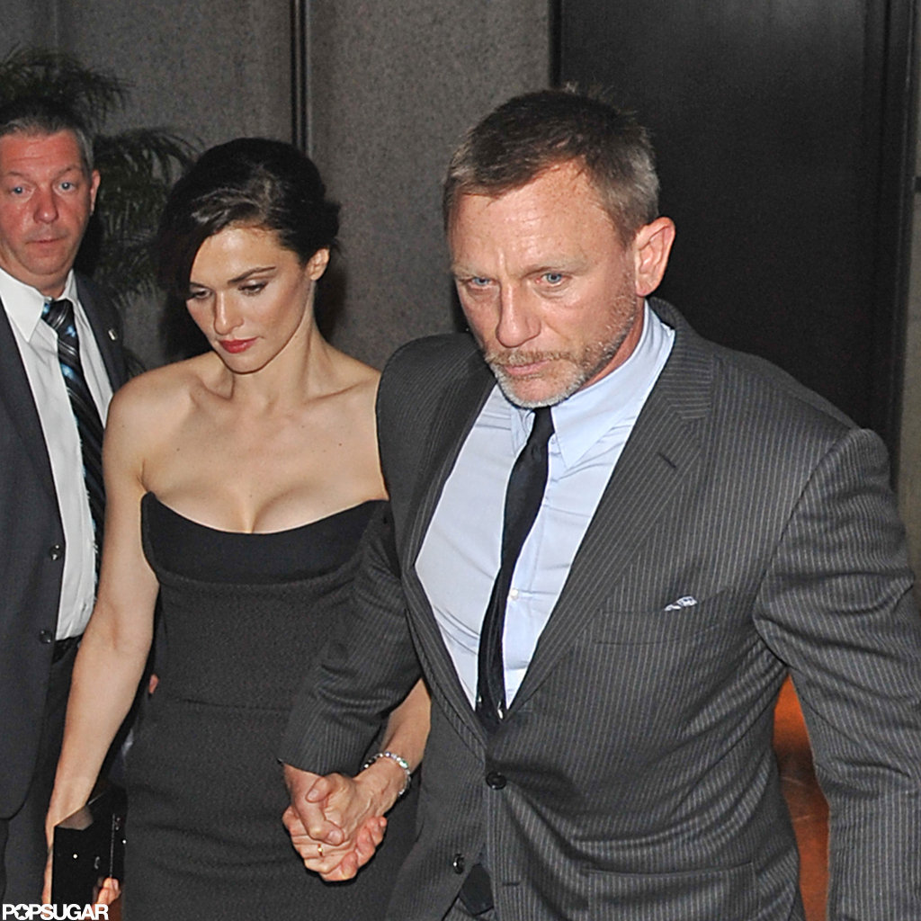 Rachel Weisz and Daniel Craig were hand in hand leaving their hotel after The Bourne Legacy premiere in NYC.