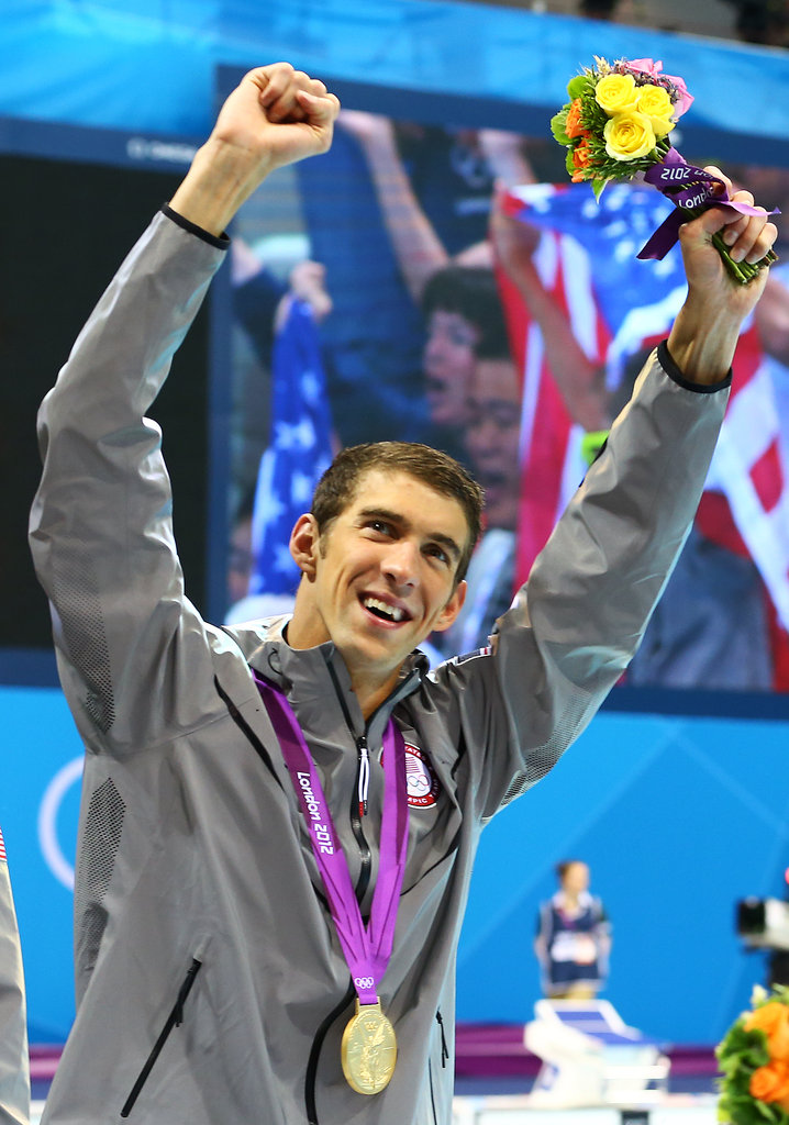 Michael Phelps took the podium with his record setting 19th Olympic medal.