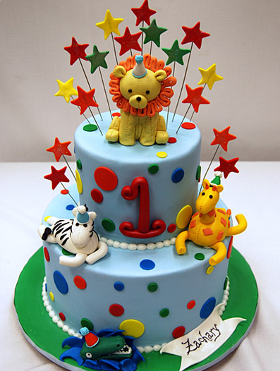 Fun Animal Birthday Cake