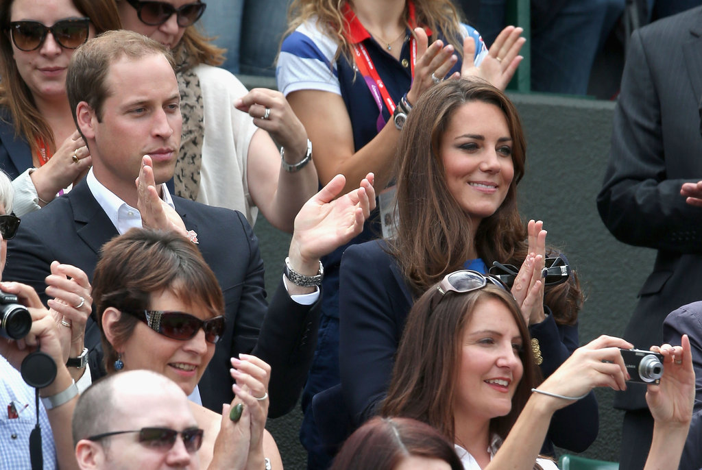 Prince William and wife Kate Middleton stepped out to support Great Britain during the Men's Singles Tennis Quarterfinals.