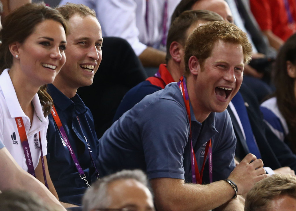 Prince Harry got excited during track cycling.