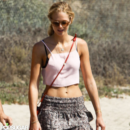 It was a beach day for Erin Heatherton.