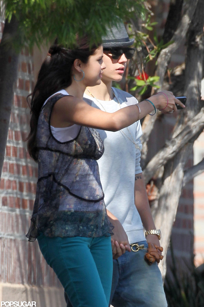 Selena Gomez and Justin Bieber were hand in hand on the set of her new movie Parental Guidance Suggested.