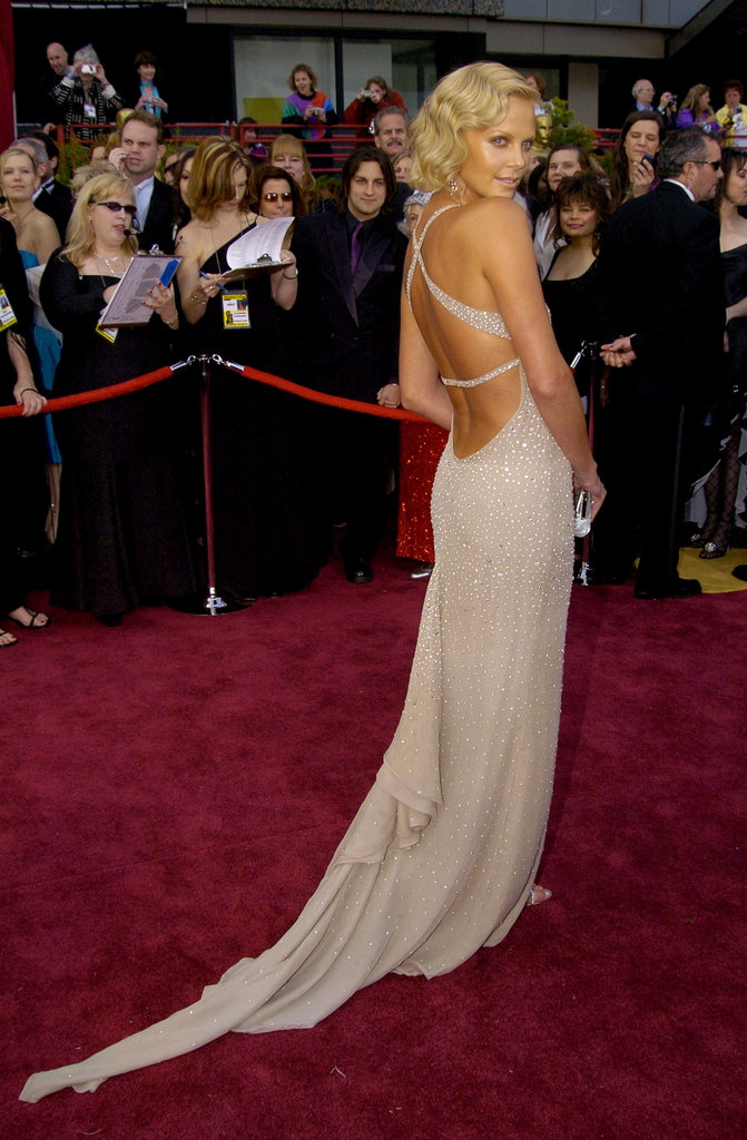 Charlize Theron was the golden girl at the 2004 Academy Awards in LA.