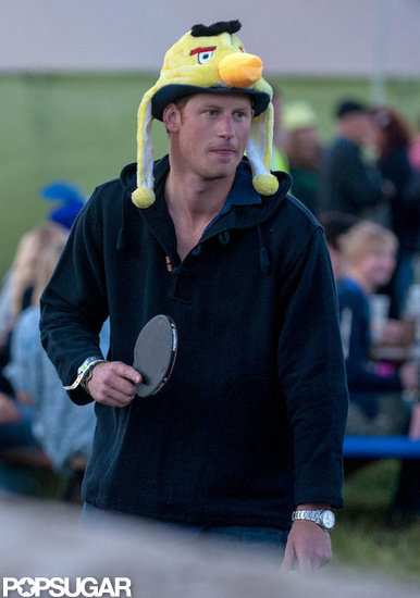 Why Is Prince Harry Wearing an Angry Birds Hat?