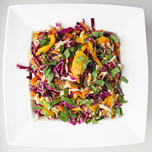 Spicy Cabbage, Mango, and Papaya Slaw Recipe | POPSUGAR Food