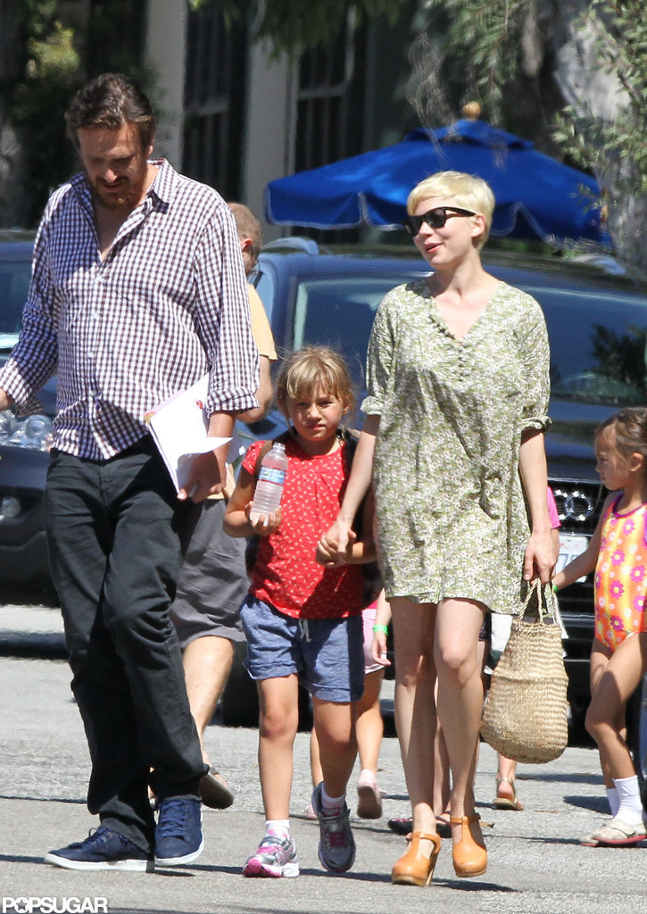 Michelle Williams and Jason Segel hung out with Matilda in LA.