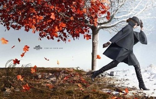 The leaves Fall and the clothes are as covetable as ever in the newest campaign by Hermès.