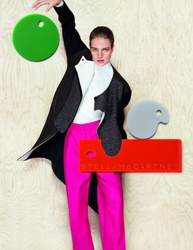 We're loving this artsy take on Stella McCartney's sporty-luxe wares.