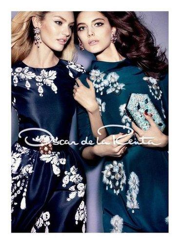 Candice Swanepoel stars in Oscar de la Renta's beautiful Fall 2012 ads.