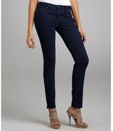 William Rast dark blue wash cotton blend  'Raven' skinny jeans at ShopStyle