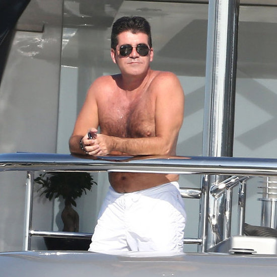 Shirtless Simon Cowell in the South of France   Pictures