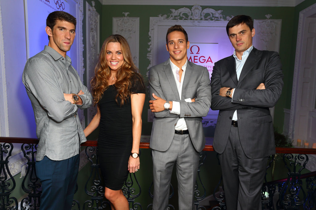 Michael Phelps, Natalie Coughlin, Chad Le Clos, and ...