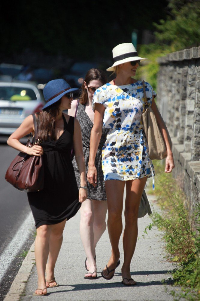 For an easy daytime feel, go for a printed romper or minidress and finish it off with a sun hat and flat sandals.