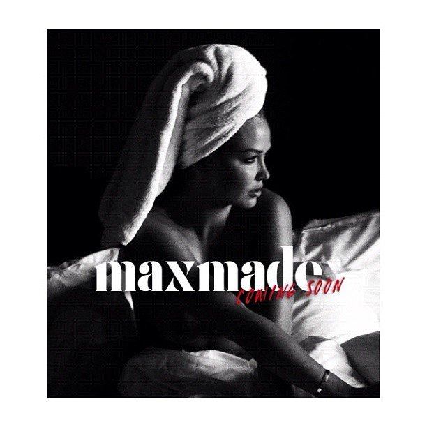 Lara Bingle's makeup artist, Max May, released this pic of Lara ahead of the launch of his MaxMade online debut.