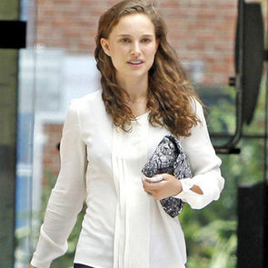 Natalie Portman Wears White to Business Meeting   Pictures