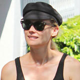 Diane Kruger Pairs Printed Leggings With a Fisherman's Hat