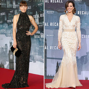 Pictures of Kate Beckinsale and Jessica Biel at the Total Recall's Global Photocall and Premiere Press Tour!