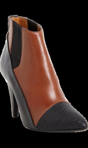Balenciaga Ribbed Cap Toe Ankle Boot