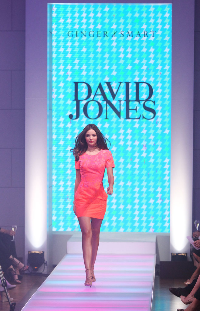Miranda Kerr modeled in the David Jones 2012-2013 Season Launch in Sydney, Australia.