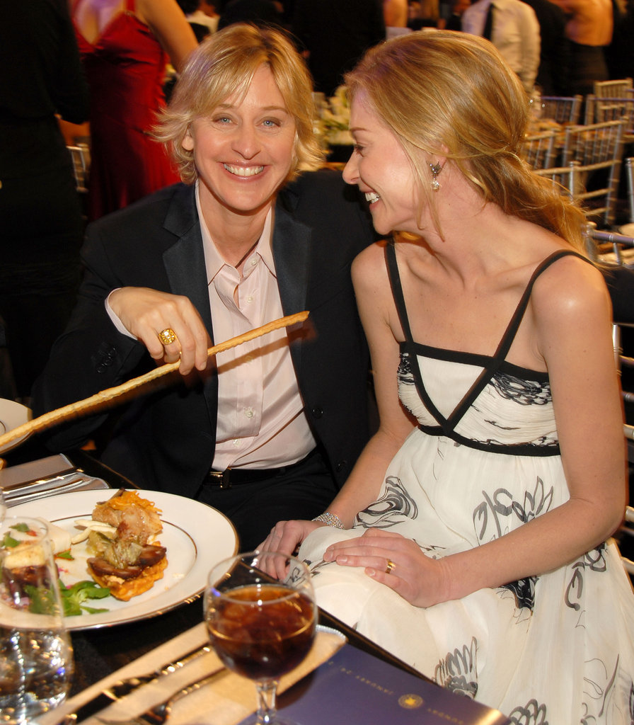 The couple had a laugh during dinner at the January 2006 SAG Awards.
