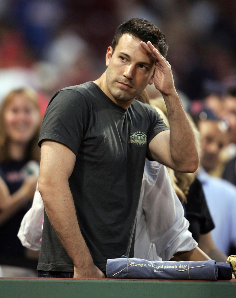 Ben Affleck saluted the players after the Boston Red Sox defeated the New York Yankees in June 2007.