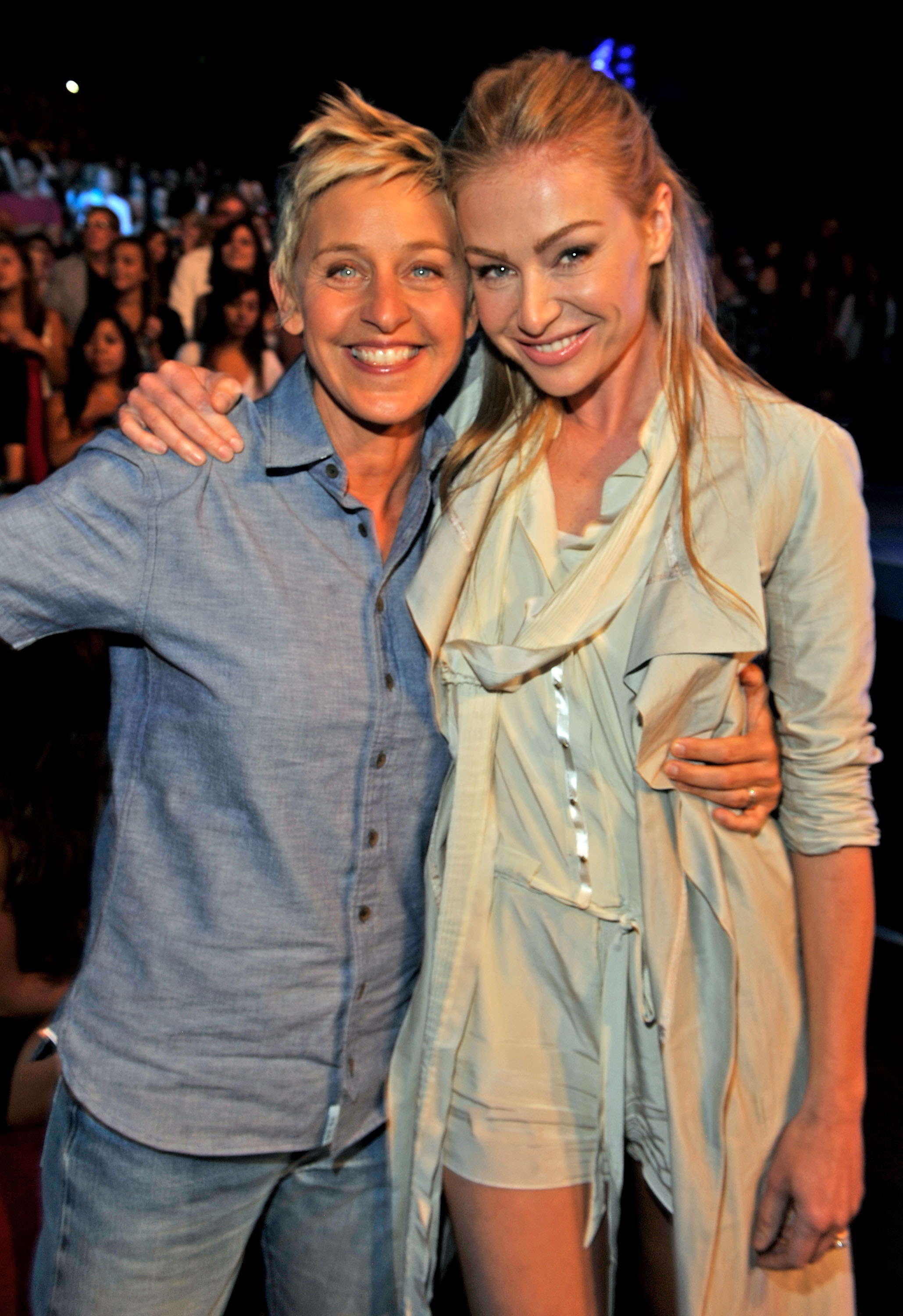 Portia de Rossi and Ellen DeGeneres showed loved during the August ...