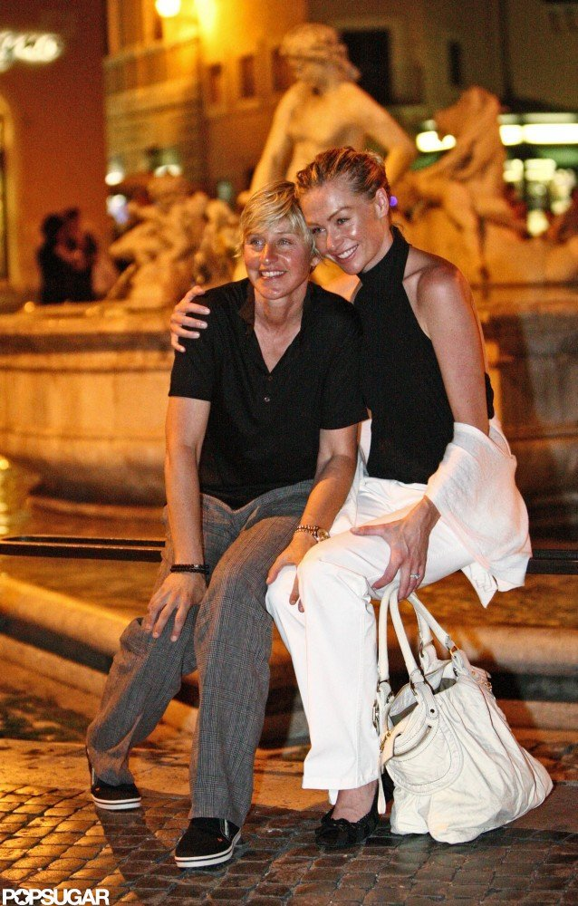 The couple went sightseeing in Rome in June 2008.