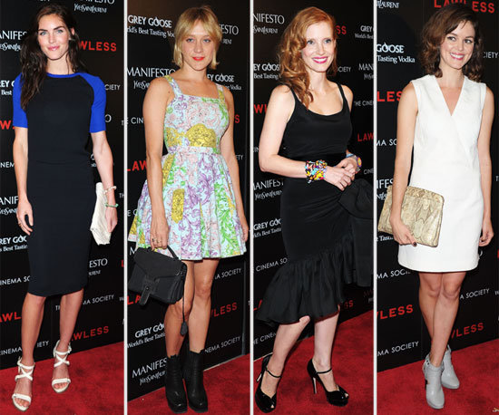 Jessica Chastain, Chloe Sevigny, Hilary Rhoda and more Frock Up for the Lawless NYC Screening: Who Was Best Dressed?