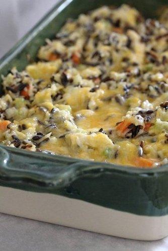 Cheesy Chicken Wild Rice Casserole