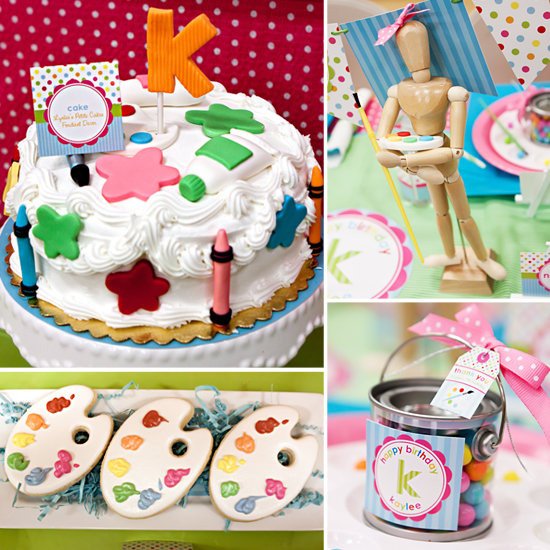 Birthday Cake Art And Craft : Arts and Crafts Kids Birthday Party POPSUGAR Moms
