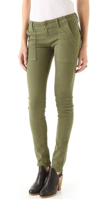 We'd wear these army green skinny jeans with everything from a slouchy white tee to a printed blouse to a cool textured sweater for Fall. Current/Elliott The Combat Skinny Jeans ($198)
