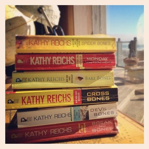 I can't stop ready Kathy Reichs's Temperance Brennan series!