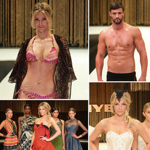 Jennifer Hawkins Bikini Pictures and Kris Smith Shirtless at Myer Spring/Summer 2012 Collection Launch