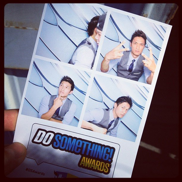 Harry Shum showed off his photo-booth fun. Source: Instagram user harryshum