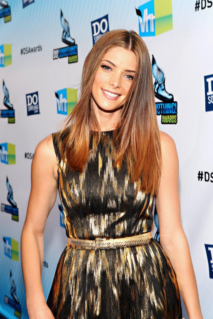 Ashley Greene posed on the blue carpet of the Do Something Awards.