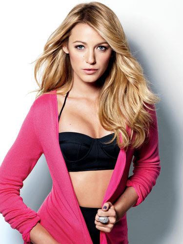 Blake Lively wore a bikini top for a December 2009 US Marie Claire shoot. Source: Marie Claire
