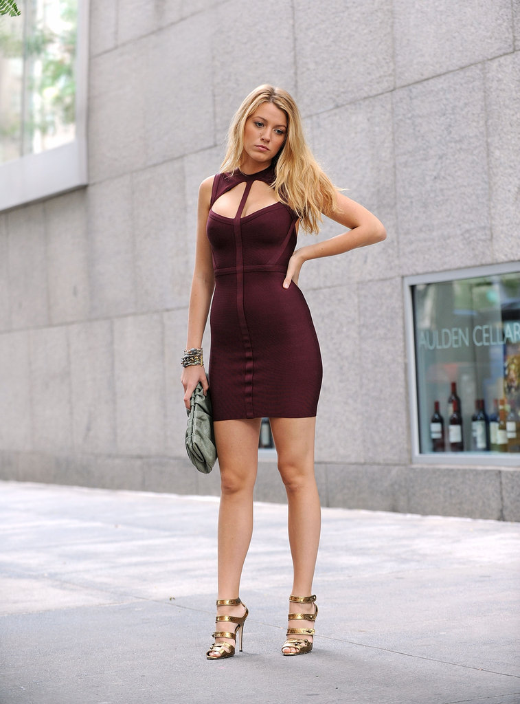Blake Lively slipped into a sexy dress in NYC in July 2009.